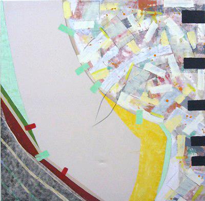 Open cream,mixed media on canvas, 30 x 30 cm,1997