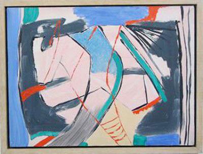 Pink,acrylic on canvas, 30 x 40 cm,1988