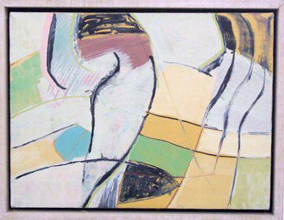 Loghead,acrylic on canvas, 30 x 40 cm, 1988