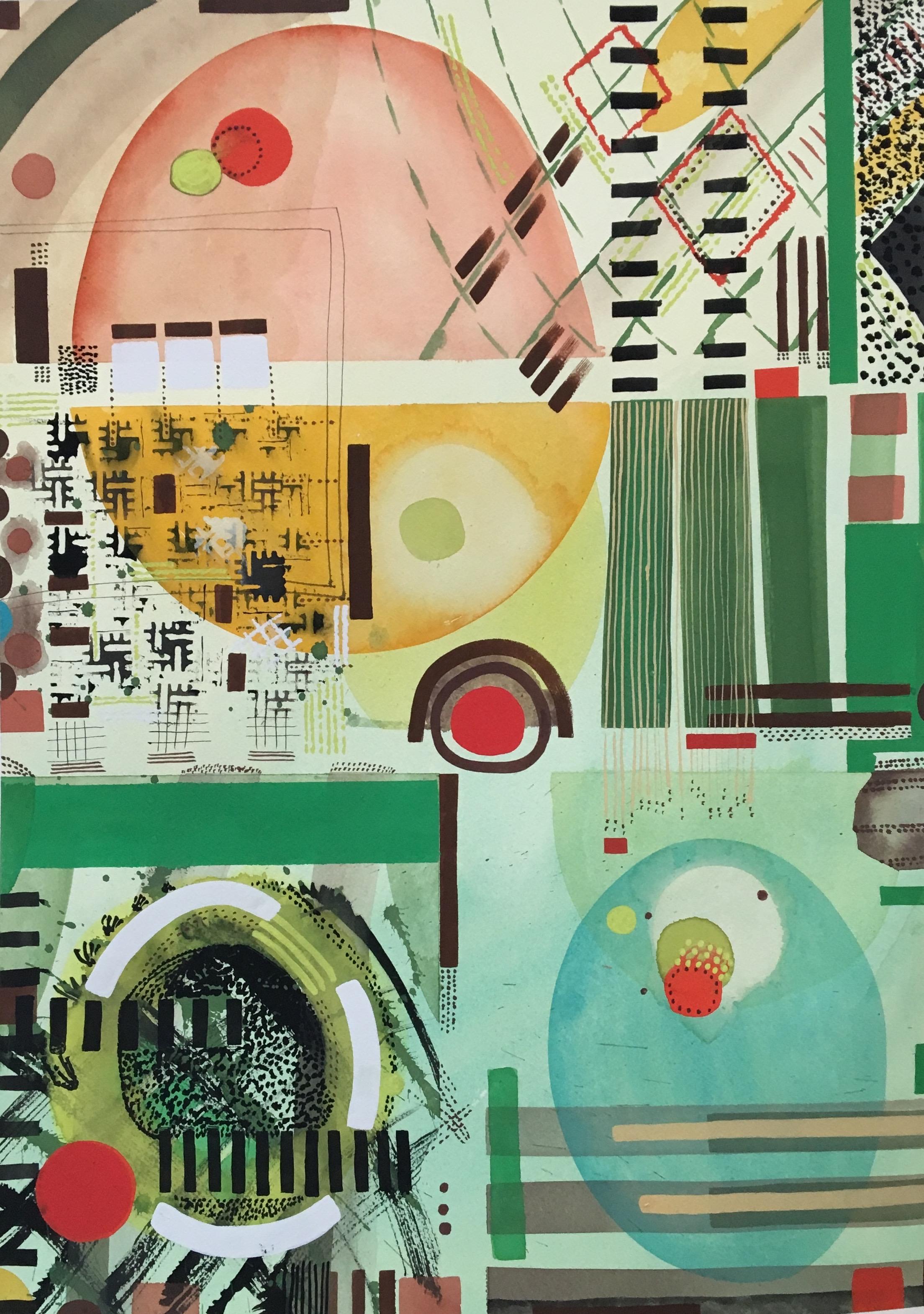 Contemplations complex, spring 2019 B, gouache on paper, 65 x 45 cm