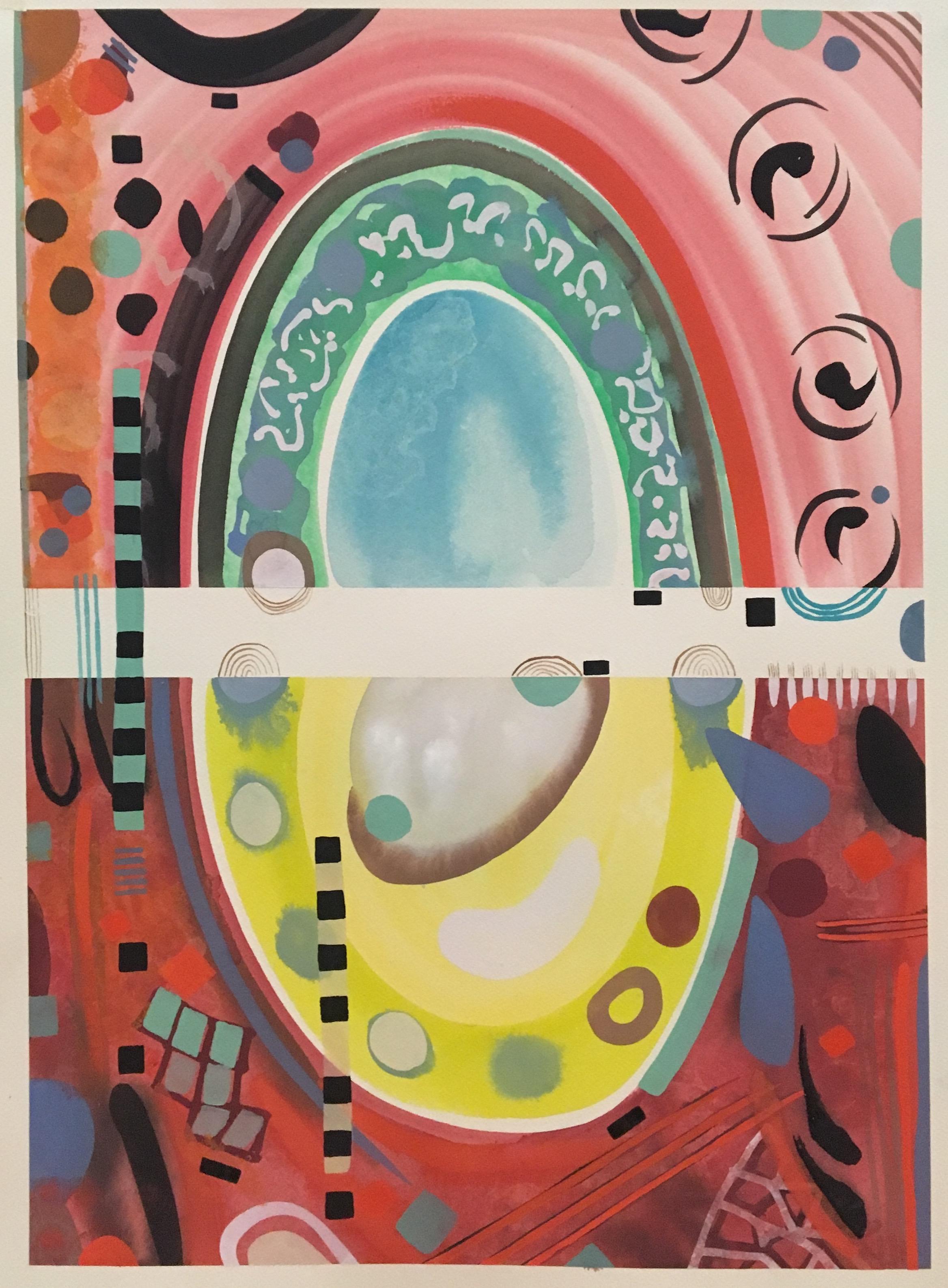 Contemplation: Homage to Bonnard 1, 2019, gouache on paper, 65 x 45 cm,