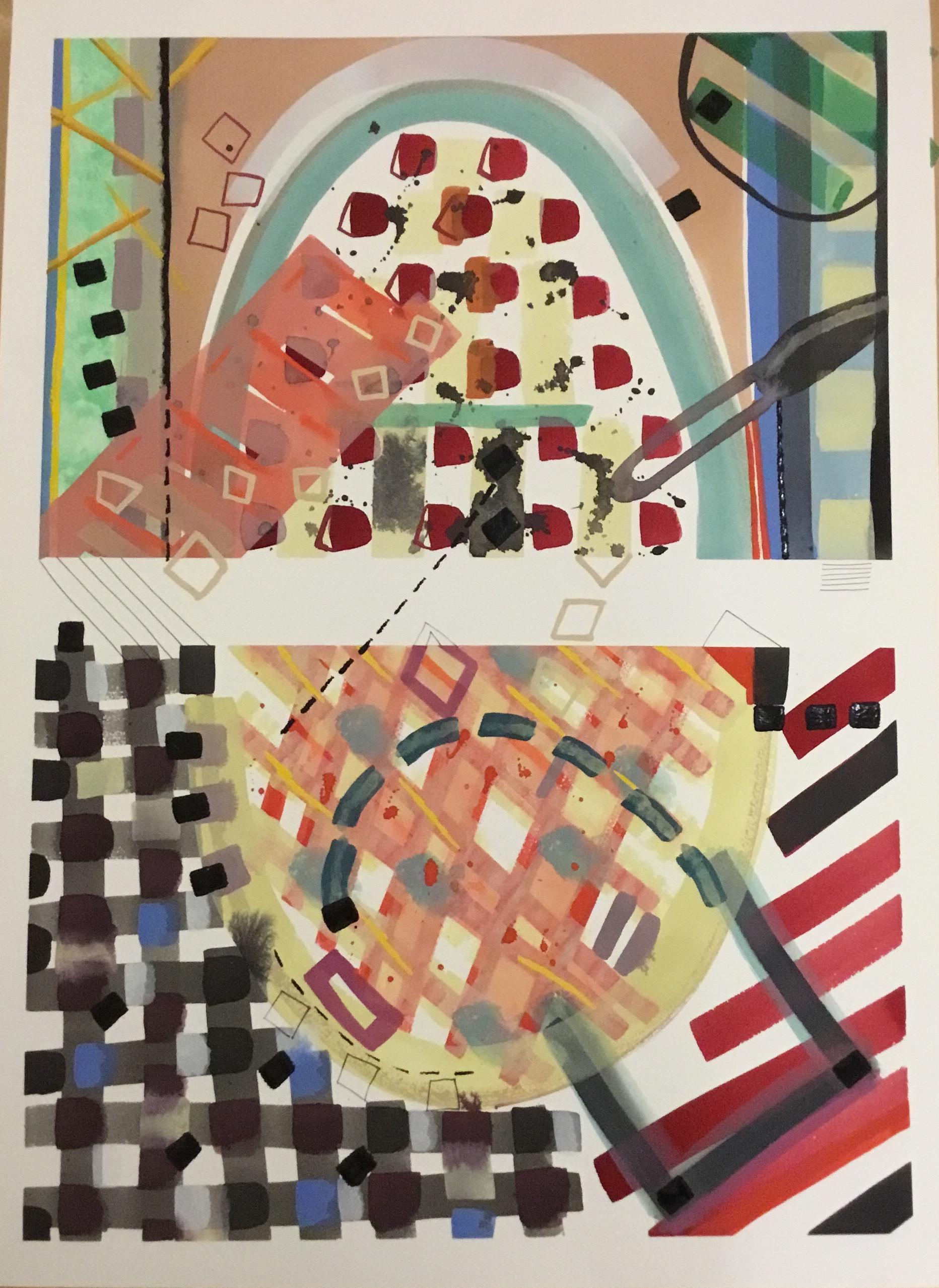 Contemplation: Homage to Bonnard 2, 2019, gouache on paper, 65 x 45 cm