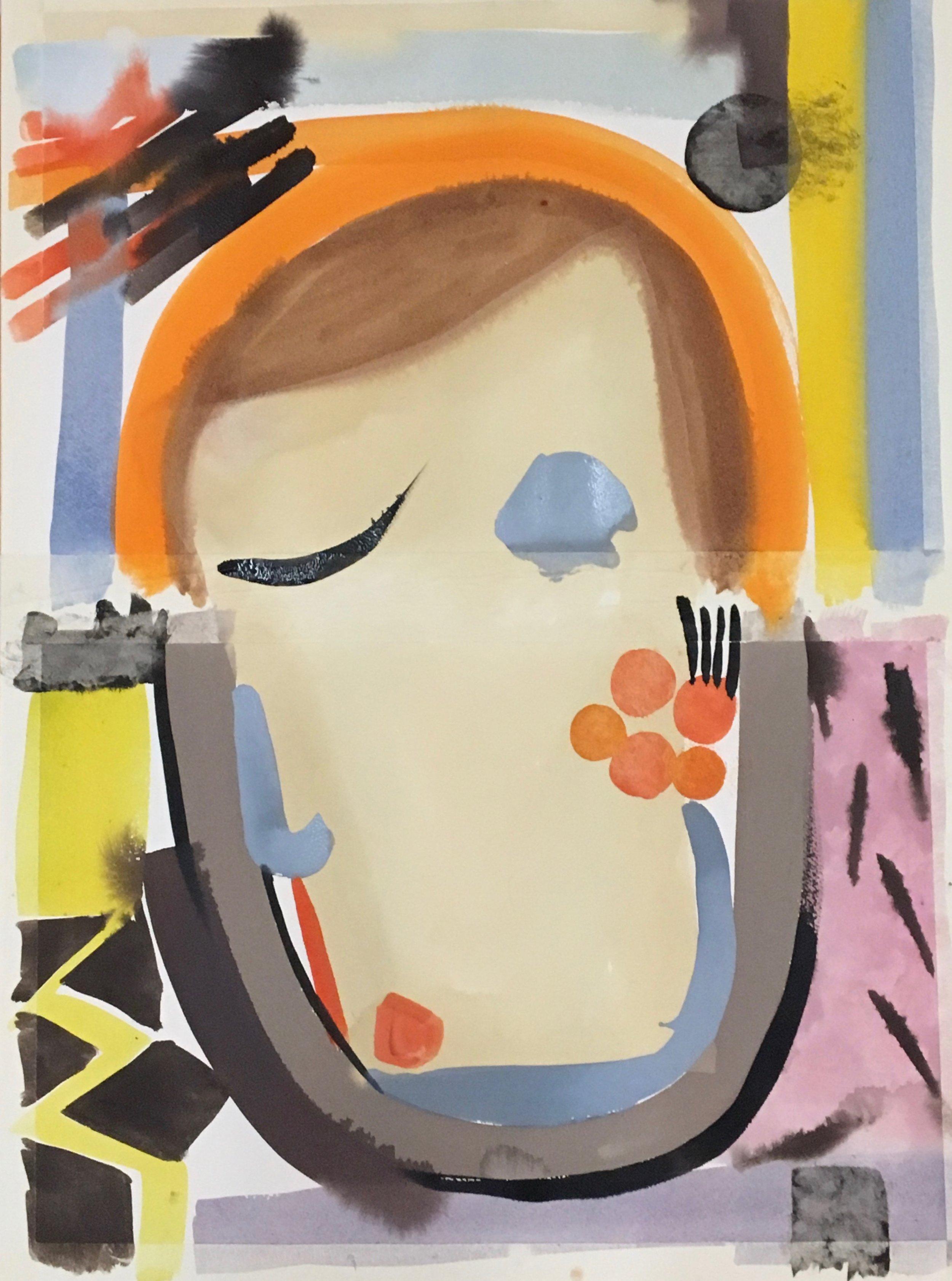 Contemplation: Homage to Bonnard 3, 2019, gouache on paper, 65 x 45 cm