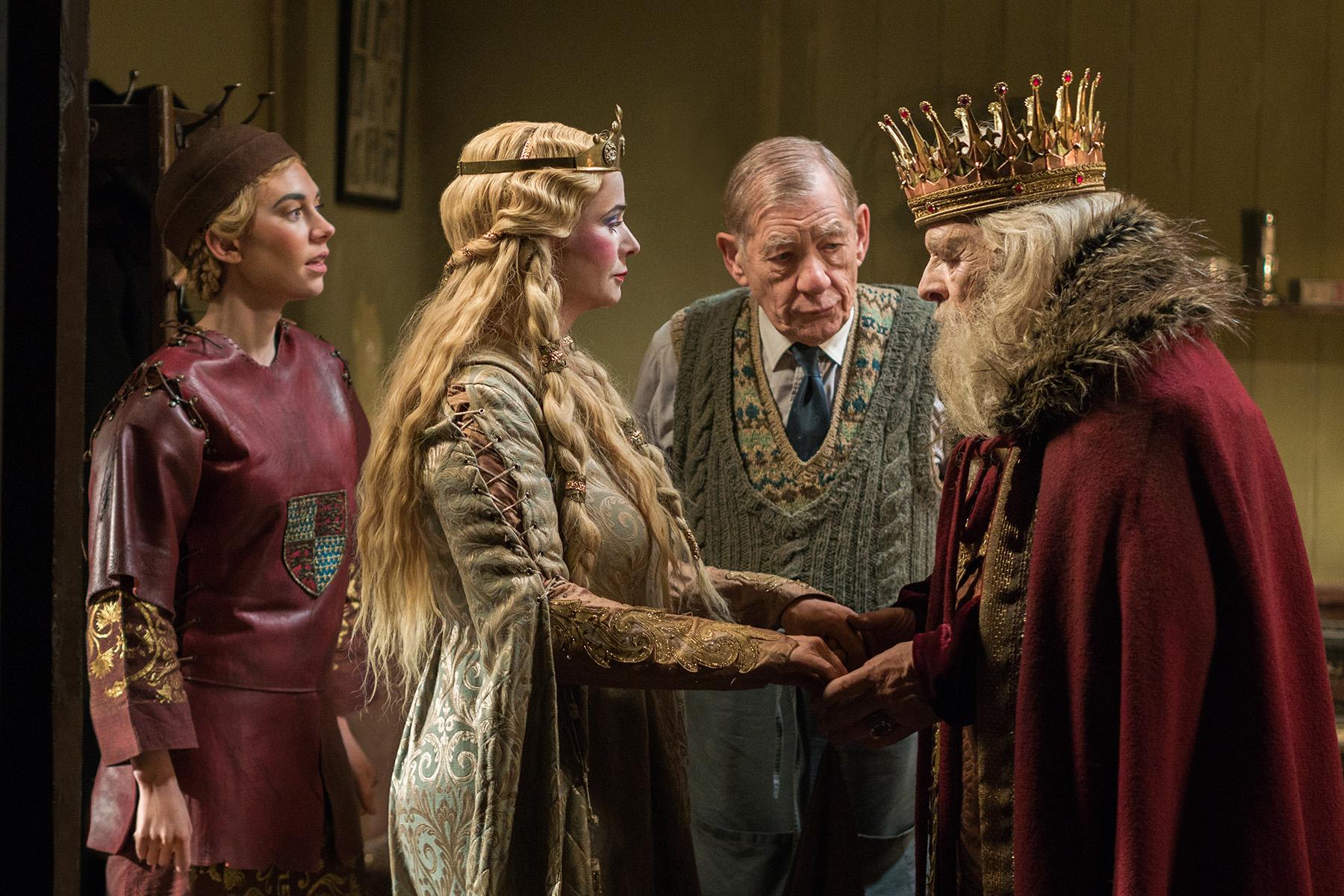 Irene (Vaness Kirby); Her Ladyship (Emily Watson); Norman (Ian McKellen); Sir (Anthony Hopkins).jpg