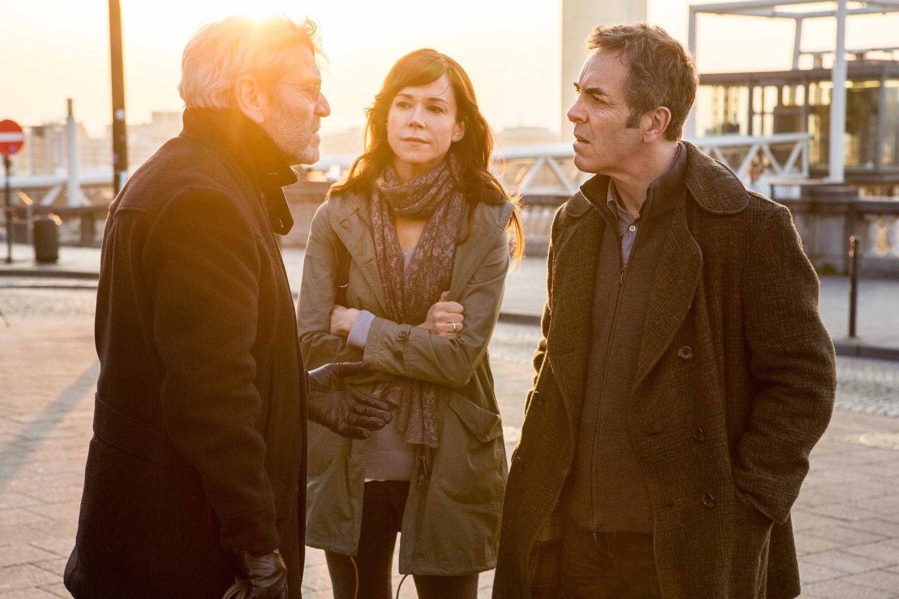Tcheky Karyo (as Julien Baptiste); Frances O'Connor (as Emily Hughes); James Nesbitt (as Tony Hughes).jpg