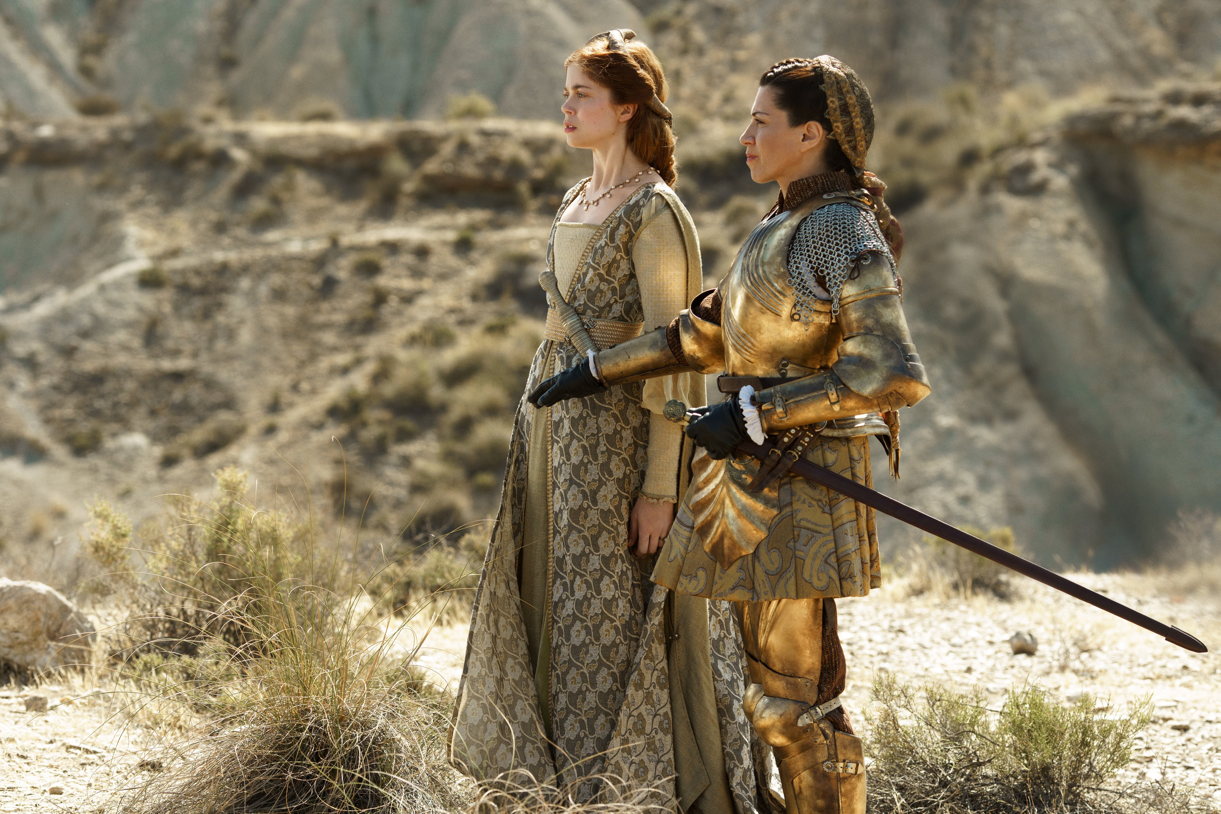 Charlotte Hope (Catherine), Alicia Borrachero (Queen Isabella)- The Spanish Princess.jpg