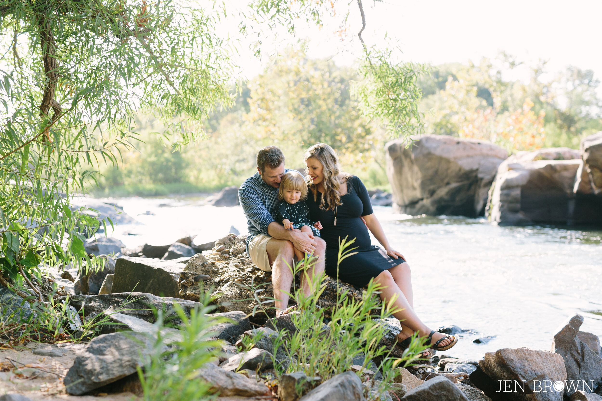 Family Photos Maternity Session at Belle Isle in Richmond, Virginia
