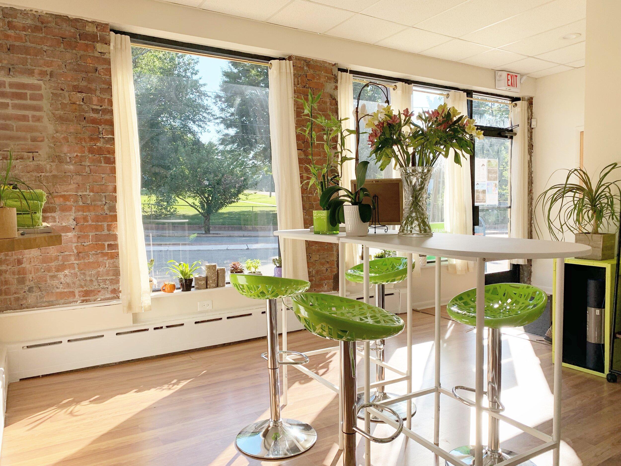 Yoga Studio Reception Area