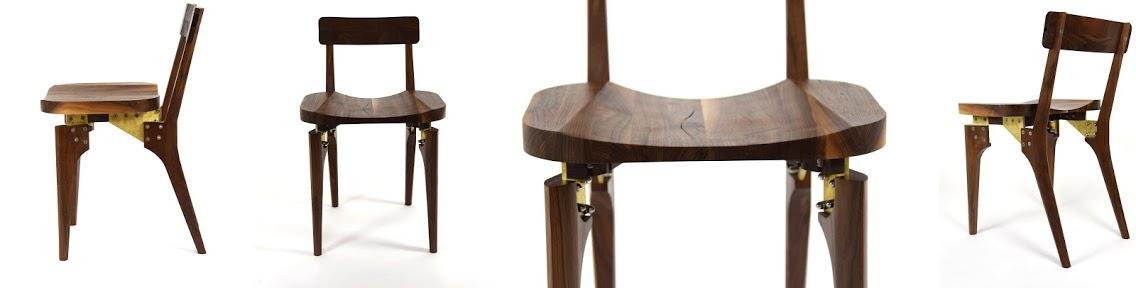 Walnut Butcher Block Chair by KHEM Studios