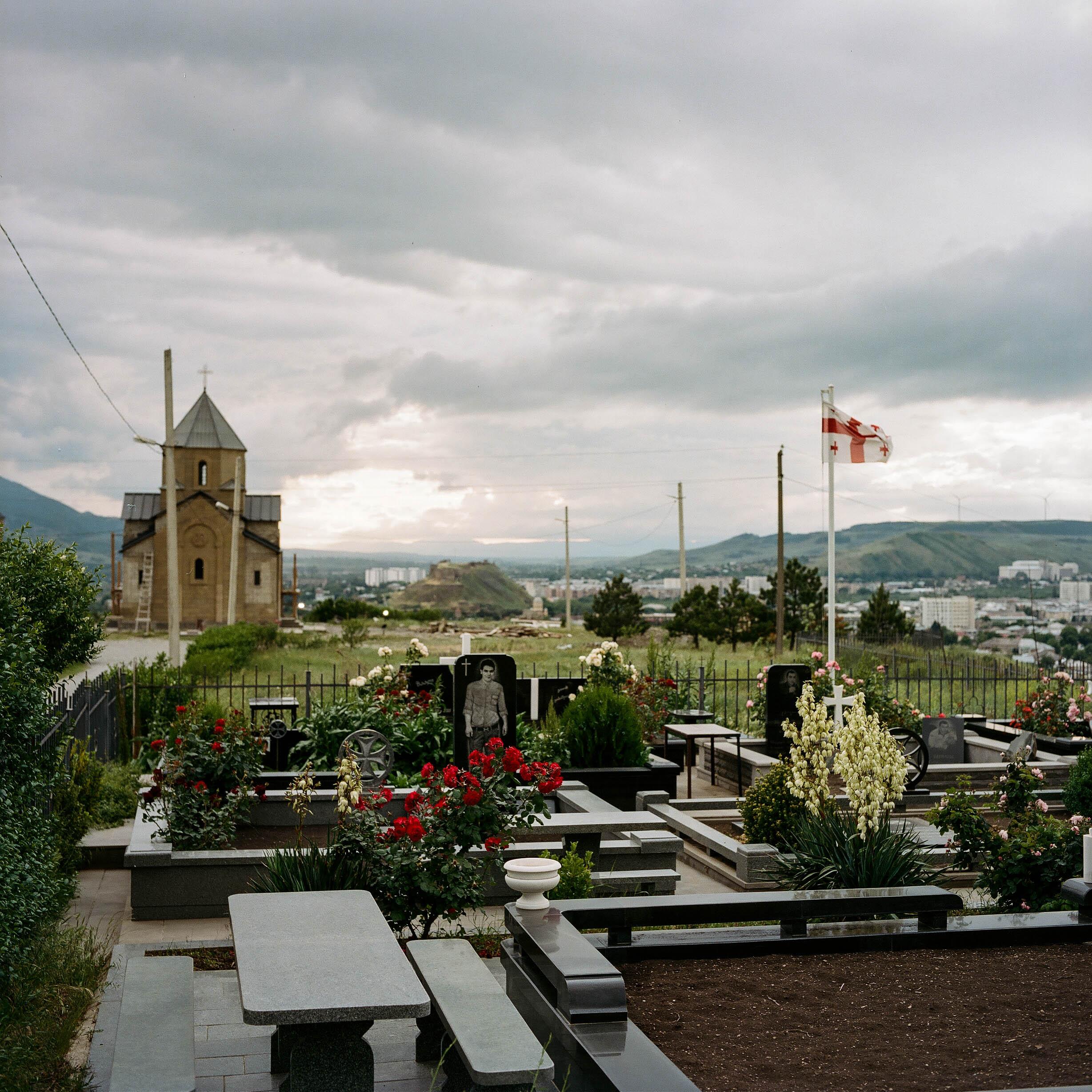 A church on the hills surrounding Gori, Georgia.