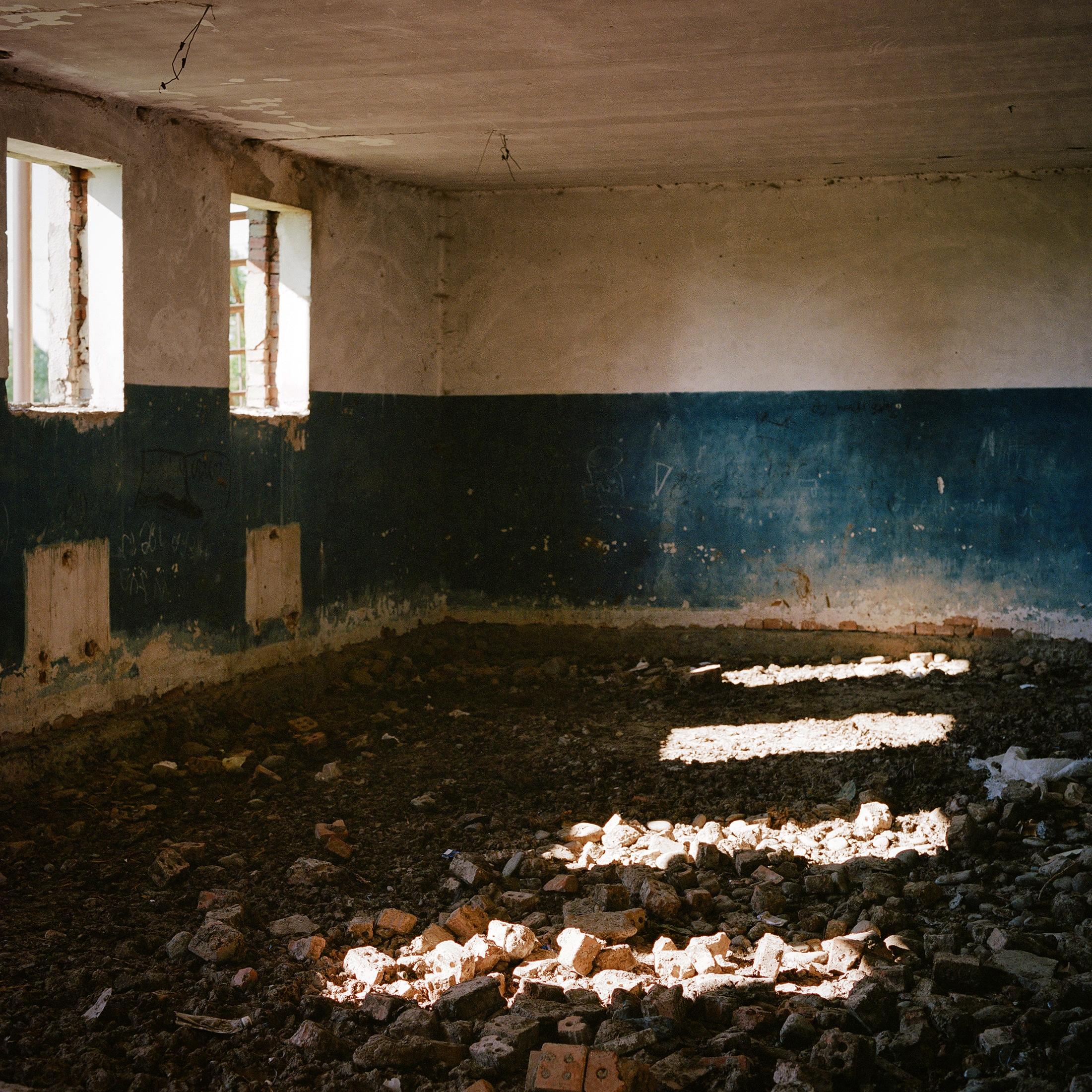 An abandoned school in Shida Kartili, Georgia.