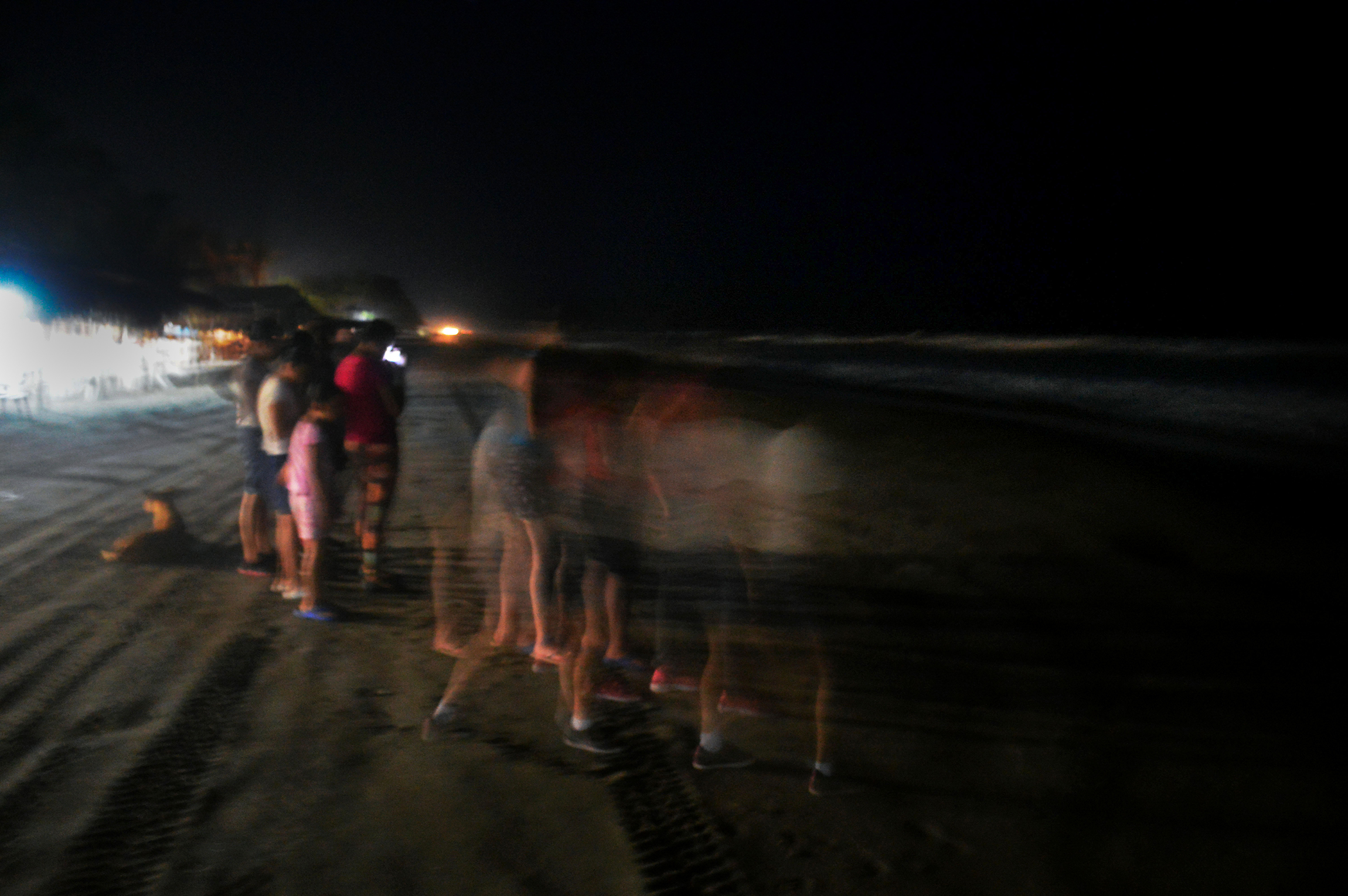 The group dances on Puerto Arista, a beach located on the southw
