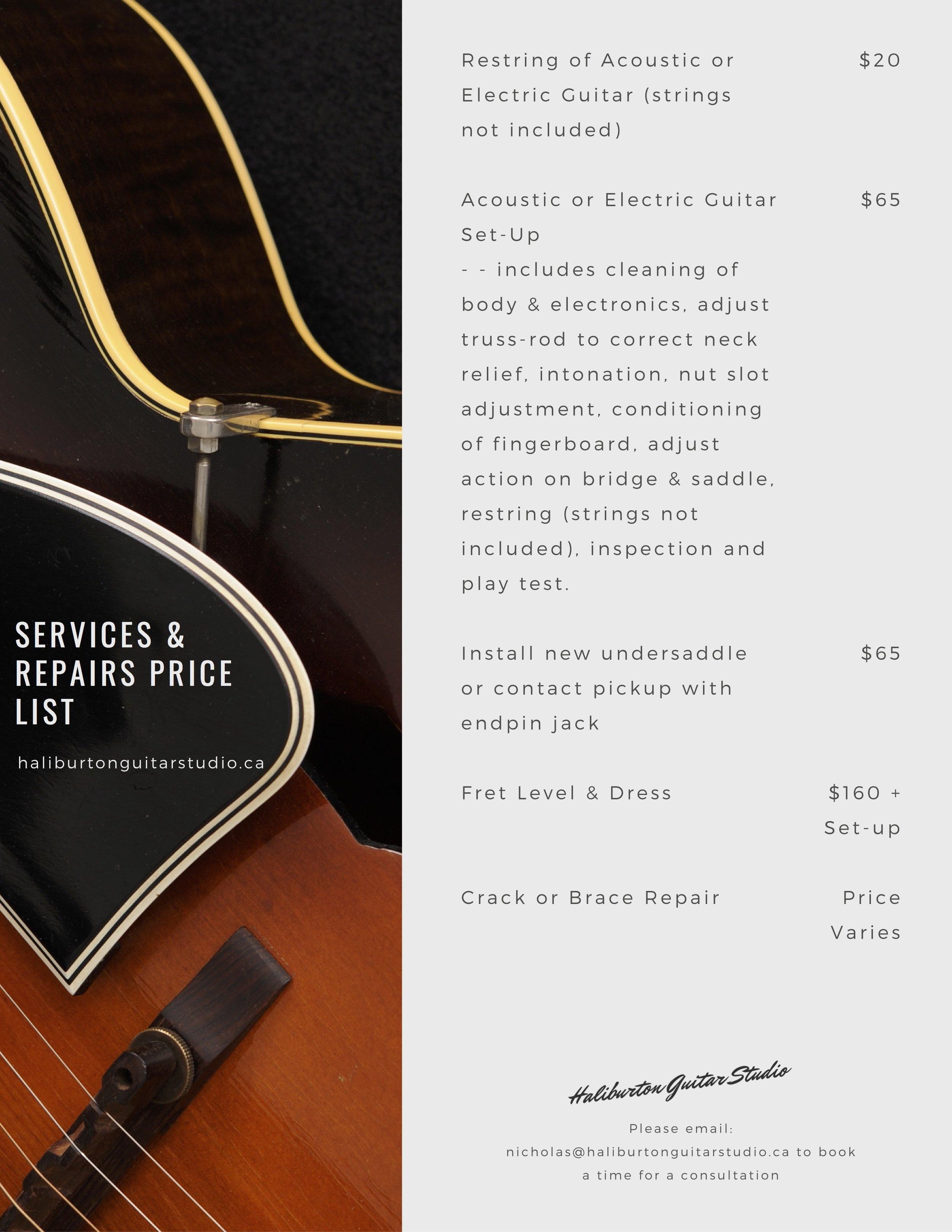 Haliburton Guitar Studio - Services & Repairs - price list 2019 .jpg