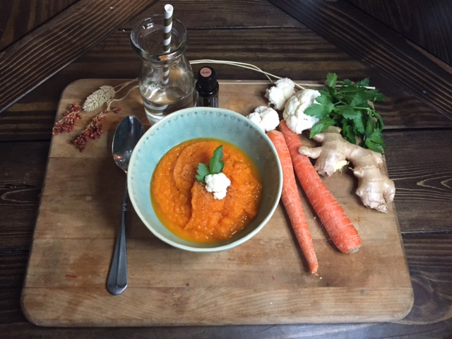 Carrot Ginger Soup Recipe by Coach Calie