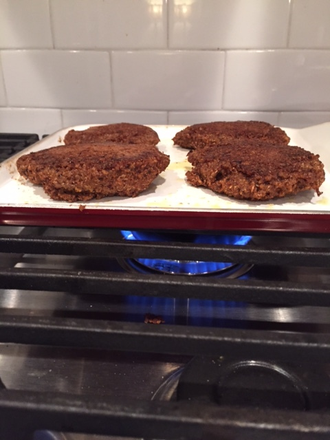 Cooking the Southwest Veggie Burgers