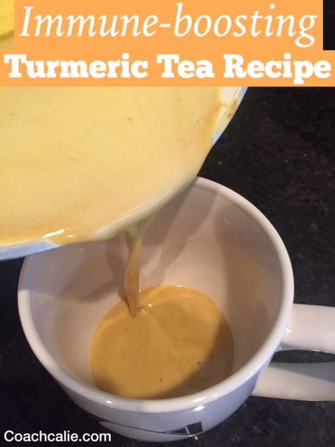 Immune-boosting Turmeric Tea Recipe by Coach Calie Calabrese