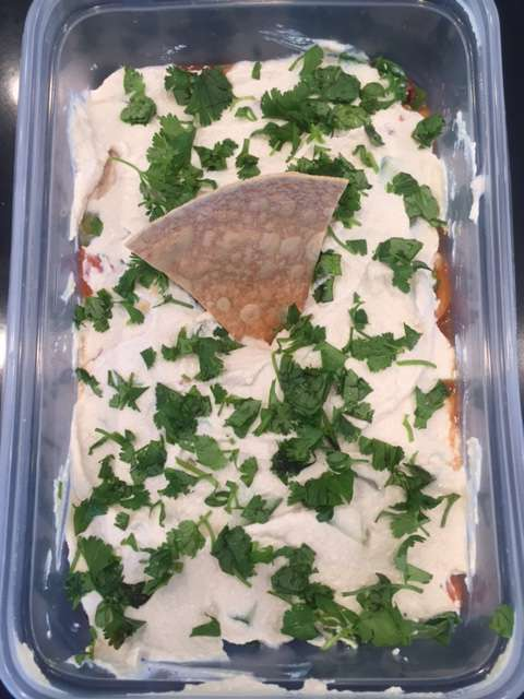 Eight Layer Vegan Dip with Homemade Tortilla Chips