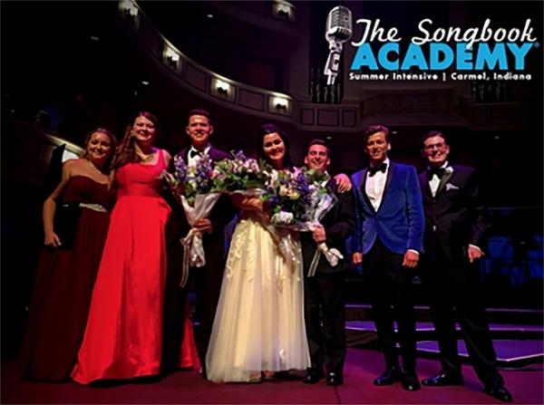 Casey second from the left ~ The Songbook Academy's seven Award Winners.