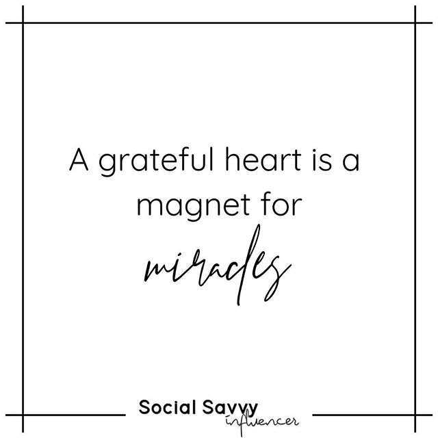 Miracles come to many. And many live with a sergeant and grateful heart. What's one thing you're grateful for? 💕 👇🏼 . . . . . #socialsavvyinfluencer #findyourpassion #personalgoals #alignment #purposedriven #makeachange #spiritualjourney #lifeisajourney #embracethejourney #thanksforeverything #higherself #smileeveryday  #livewhatyoulove #alwaysgrateful #energywork #transformationjourney #choosehappiness #lovingkindness