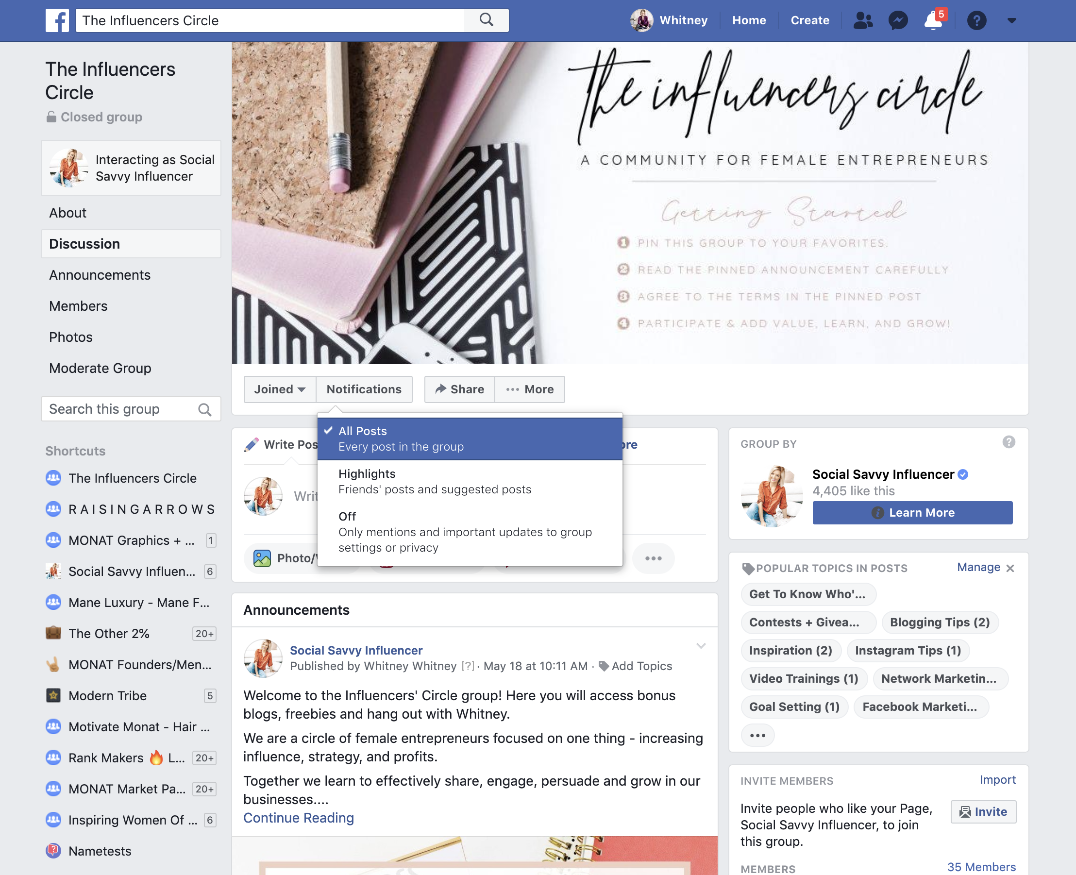 Facebook Groups - Engagement