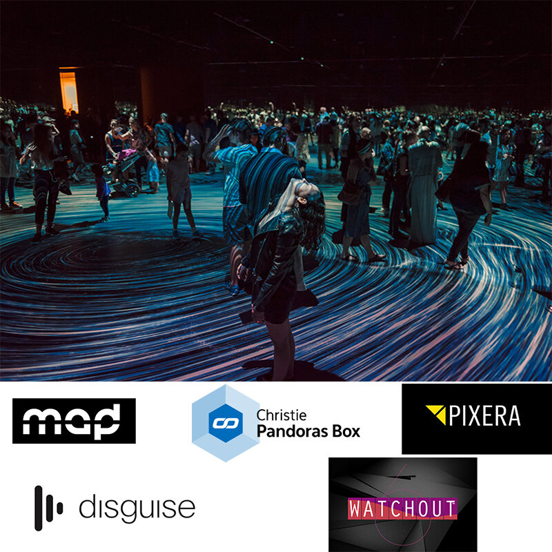 Specialised Content Delivery Systems, Programming and Operating - We work with you and use the right tools for the job. We can create custom templates for content creation or assist in creating it for you.We are operators and programmers fluent in many media servers and control systems.We work across many industry fields such as Theatre, Television, Concert Touring, Arts, Festivals, Corporate and Special Events