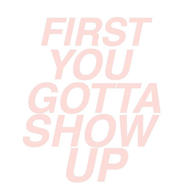 We all want to get to what's next. In a hurry. But to take that next step, first you gotta show up. Building a consistent habit of showing up even when shit gets tough is one of the best ways to create the discipline to achieve anything you want.  How are you showing up for yourself today? Comment below! #giveit15