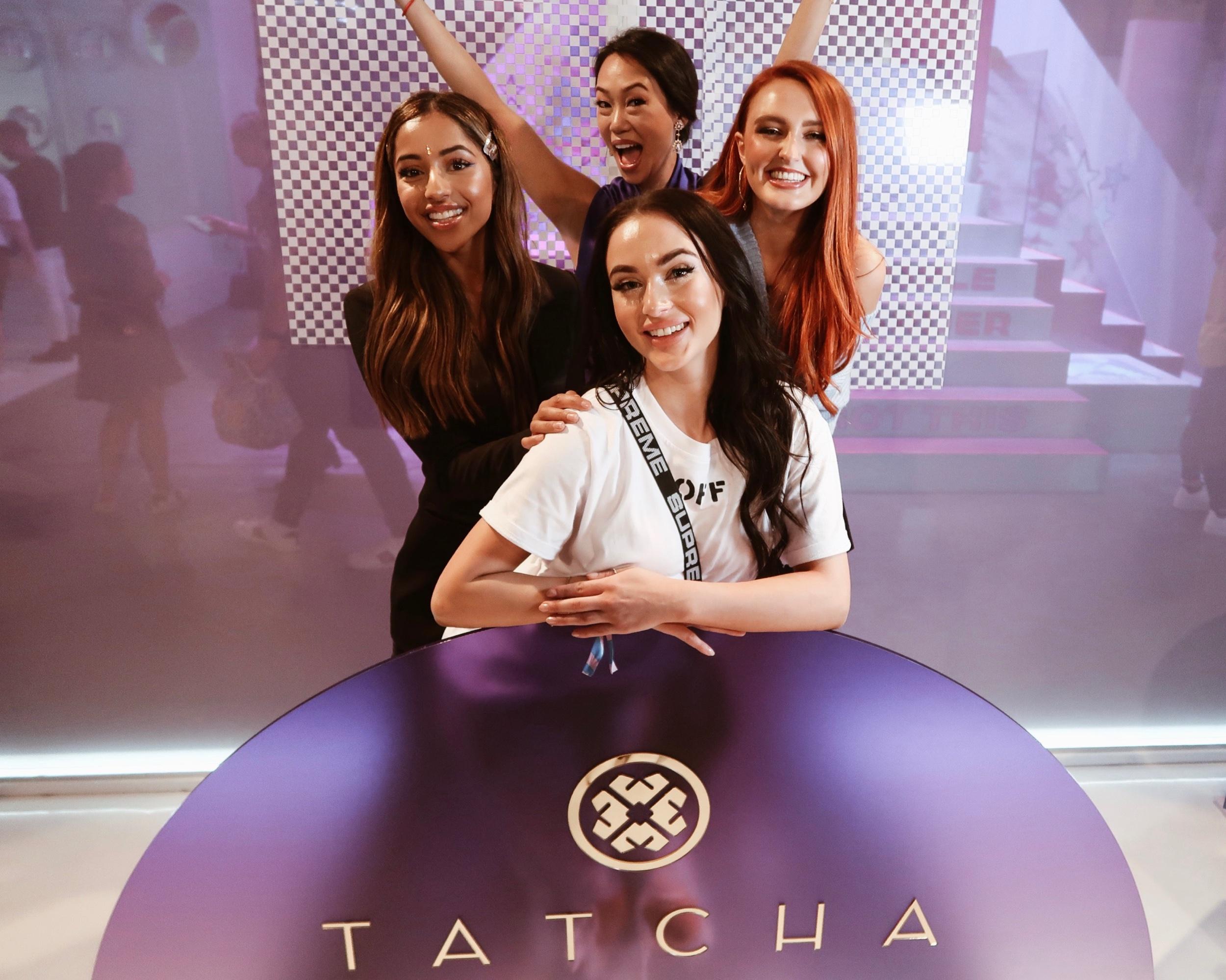 With Vicky Tsai (@vickytsai), Founder of TATCHA, and Brii Wright (@briiwright_) and Abbey Stojanovic (@abbeystojmua) in the TATCHA booth