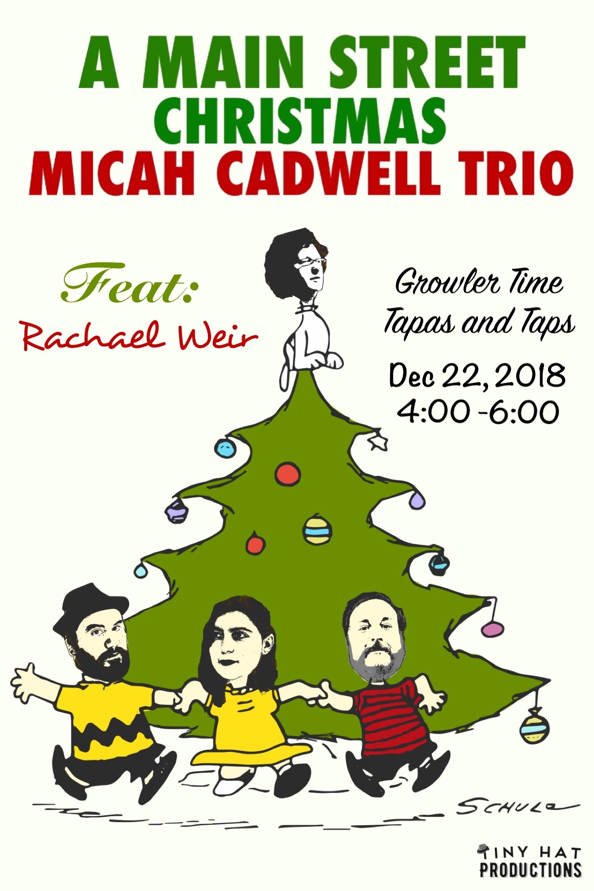 2nd Annual Holiday Concert on Main St - Dec 22, 2018 - Join us at Growler Time Tapas and Taps on Main St in Tucker, GA on Dec 22 at 4:00 for some jazzy holiday classics. My trio and I will be joined by one of my favorite singers in the world: Rachael Weir. Throughout the show, we will be passing around a hat to raise money for a children's charity in Tucker to help some really great kids have a really great holiday!