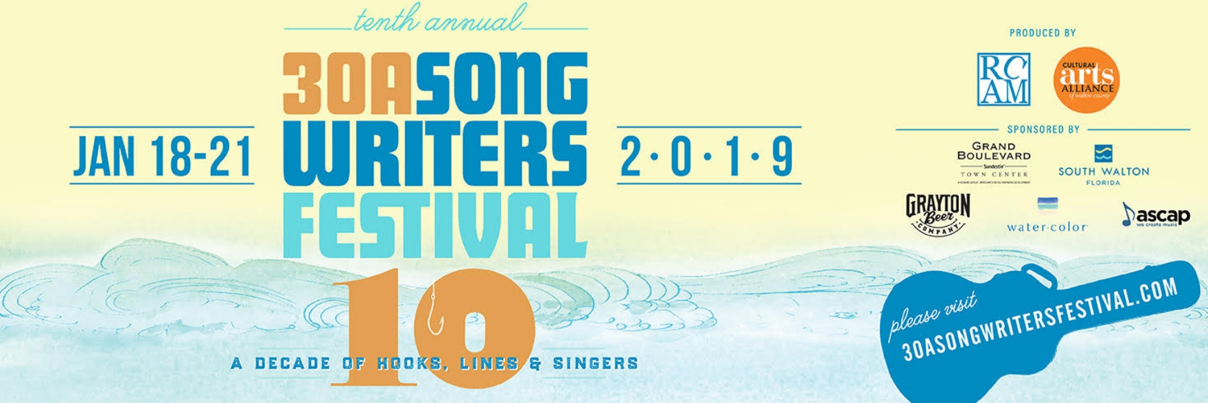 10th Annual 30A Songwriters Festival Jan 18-21 - I am excited to be heading down to sunny Florida with Nicole Chillemi for a weekend of playing and listening. This is one of my favorite festivals. See you there!