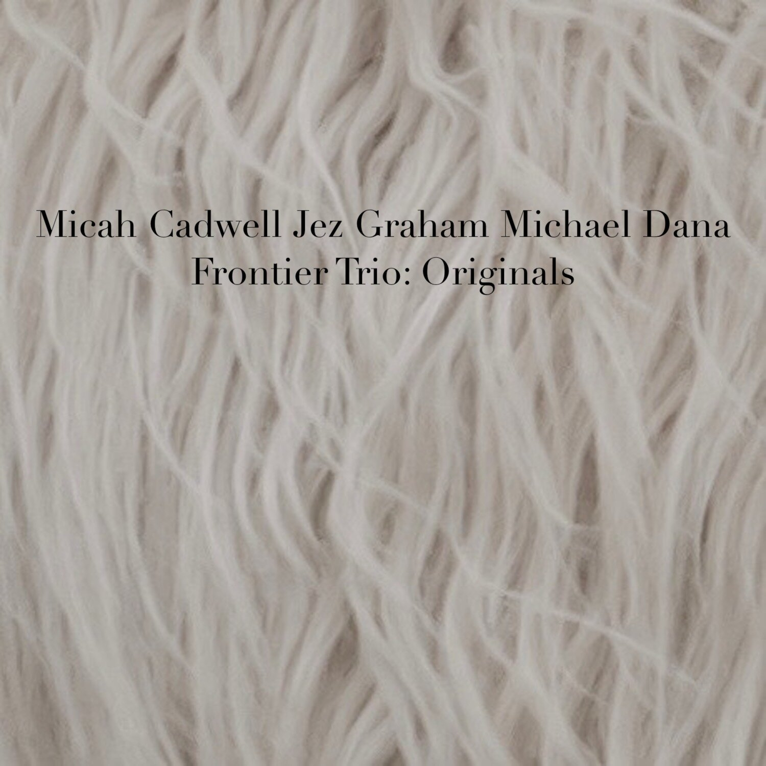Frontier Trio: Originals Click HERE to listen - This is a collection of original songs written by Micah Cadwell and performed with Frontier Trio, Jez Graham and Michael Dana. These will also be available on Frontier Trio Vol 1 & 2. Recorded on July 20 and 27, 2019. Engineered, Mixed, and Mastered by Damon Moon at Standard Electric Recorders. Cover Photography by Andrew Kowalczyk.