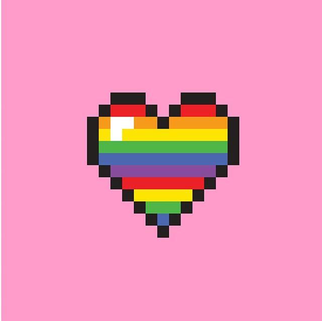 love love love — say hi #8bitart #illustrator #hearts