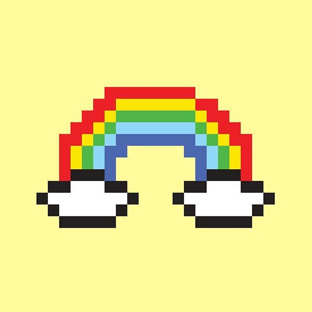 🌈 #8bitart #illustrator #rainbow
