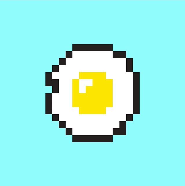 """""""I like eggs"""" #8bitart #illustrator"""