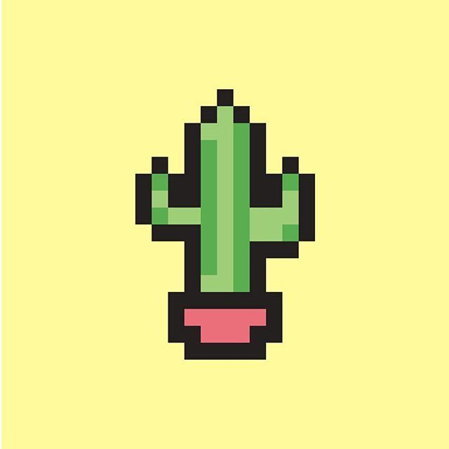 lonely lil cactus #8bitart #cactus #illustrator
