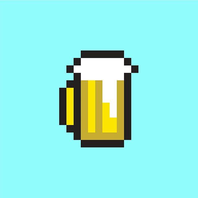 😋 #8bitart #illustrator #beer