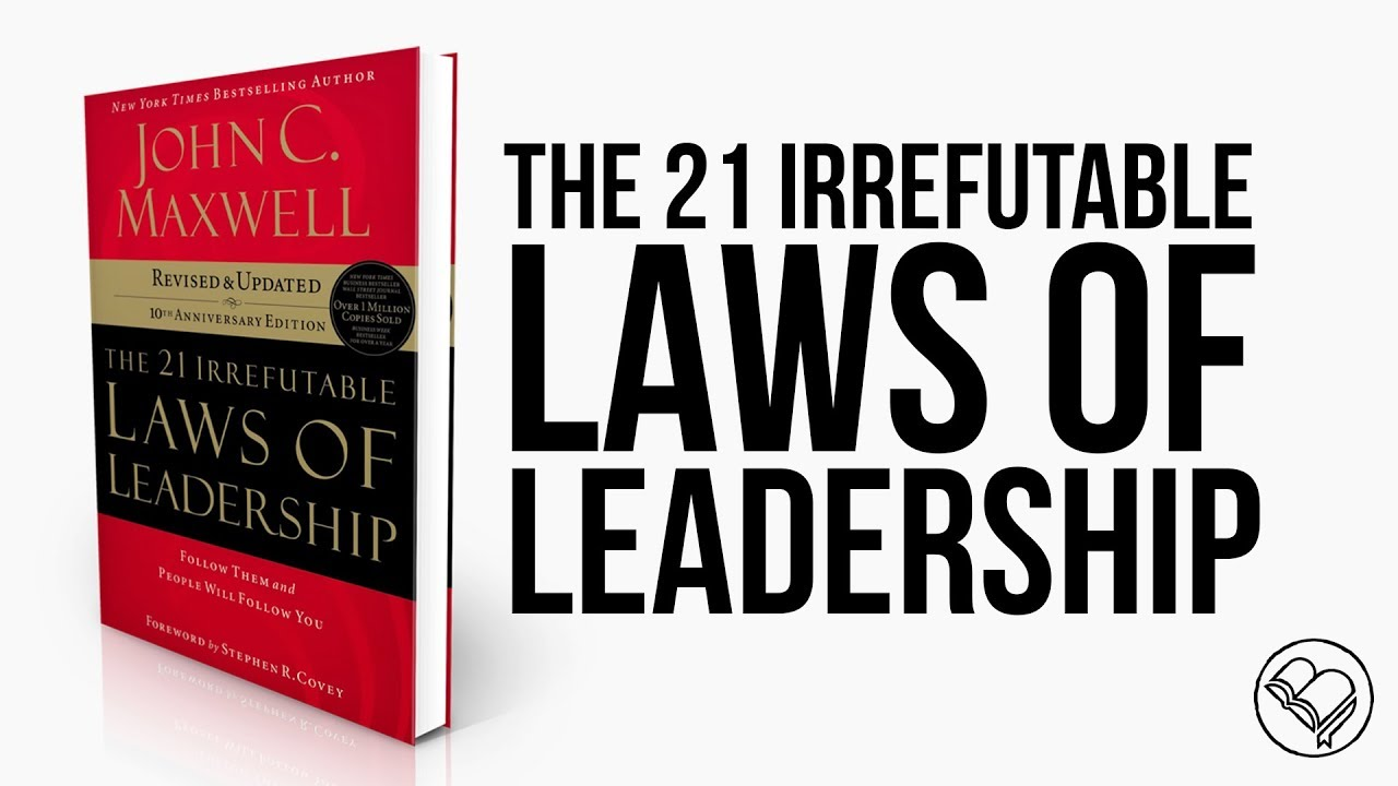 21 Irrefutable Laws of Leadership - JOHN MAXWELLGREAT Christian Leadership from God's WordOver a million copies sold and printed in multiple languages.Each law is taken from scripture.Two Day Christian Leadership Training OR Roundtable Series