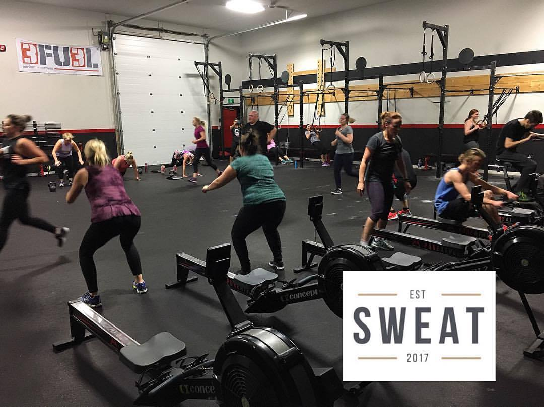 SWEAT GROUP CLASSES - 45 Minute classes. No prior experience needed. Great for beginners to experts. No barbell. The focus of SWEAT is cardio. Bodyweight, Kettlebells, and dumbells. Geared towards weight loss and toning. No heavy weights involved. What will a SWEAT class look like? Lead start to finish by one of our coaches. 10-15mins warm-up followed by the workout of the day. In and out in 45mins!Contact the Staff at Pure Athletics now for more information and to get your body back in the ZONE!