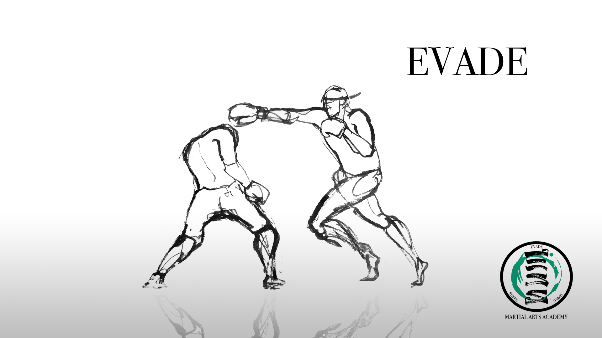 "Footwork is the best defense. Develop a sense of distance and you will decrease the chances of being hit or grabbed. Above all, a trained martial artist should avoid conflict. ""Evade,"" therefore, goes beyond fighting concepts and should be equal to a practitioners' striking and grappling abilities."