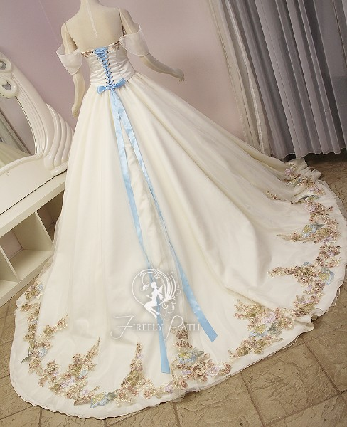 Floral Princess Bridal Gown and Cape