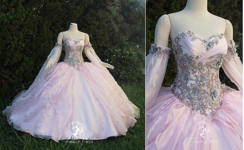 Champagne Pink Princess Gown