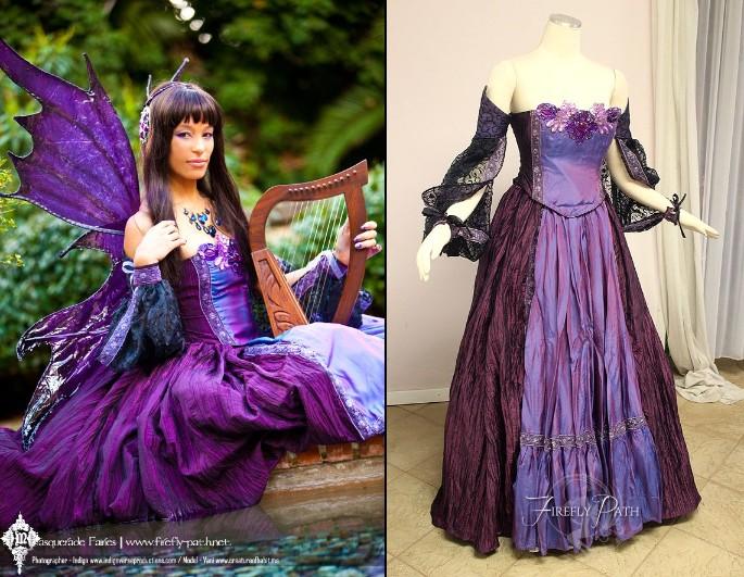 Indigo Masquerade Faerie Gown