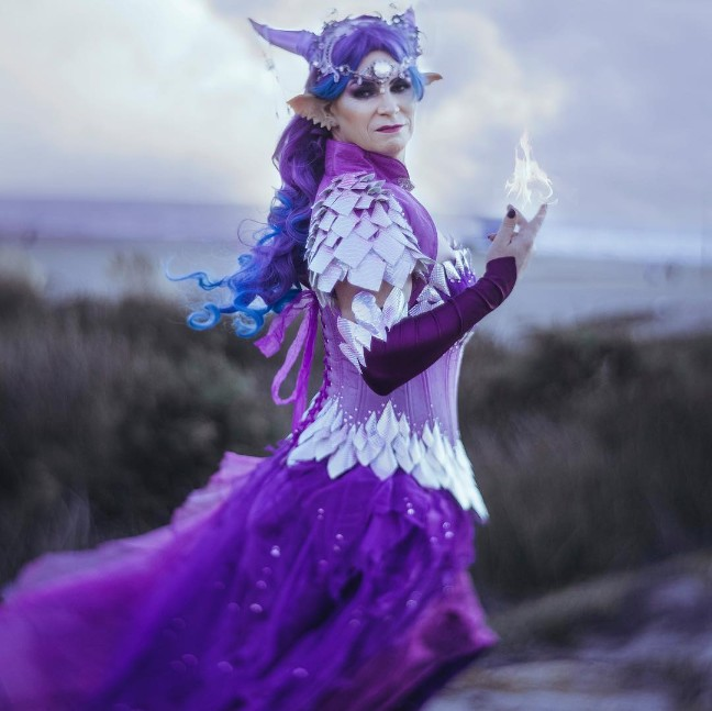 Amethyst Draconia Gown