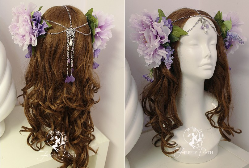 Lavender Fairy Headddress