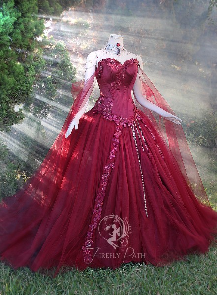 Maroon Bridal Gown