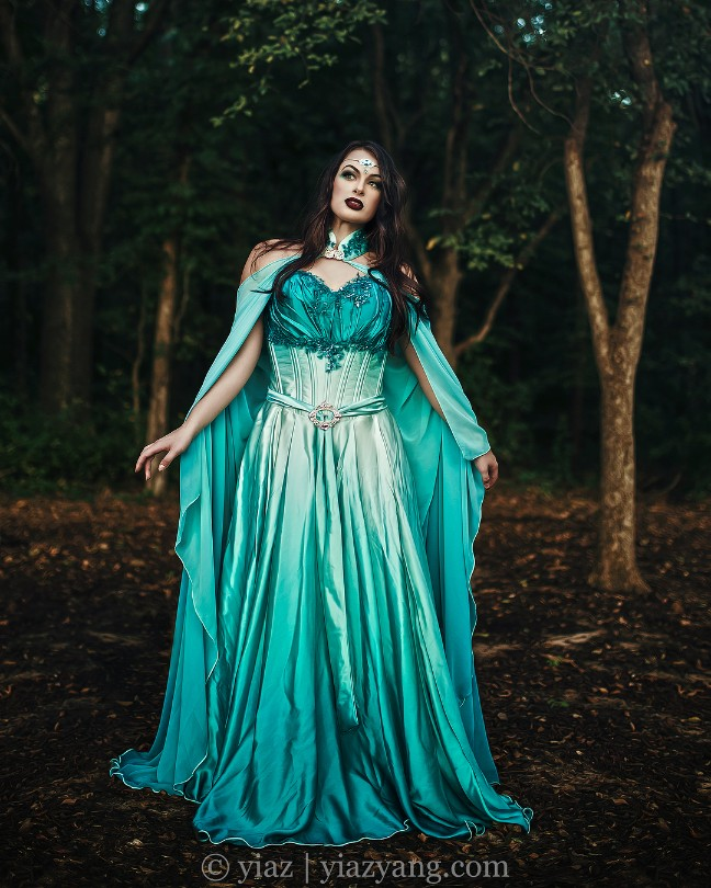 Teal Elven Bridal Gown