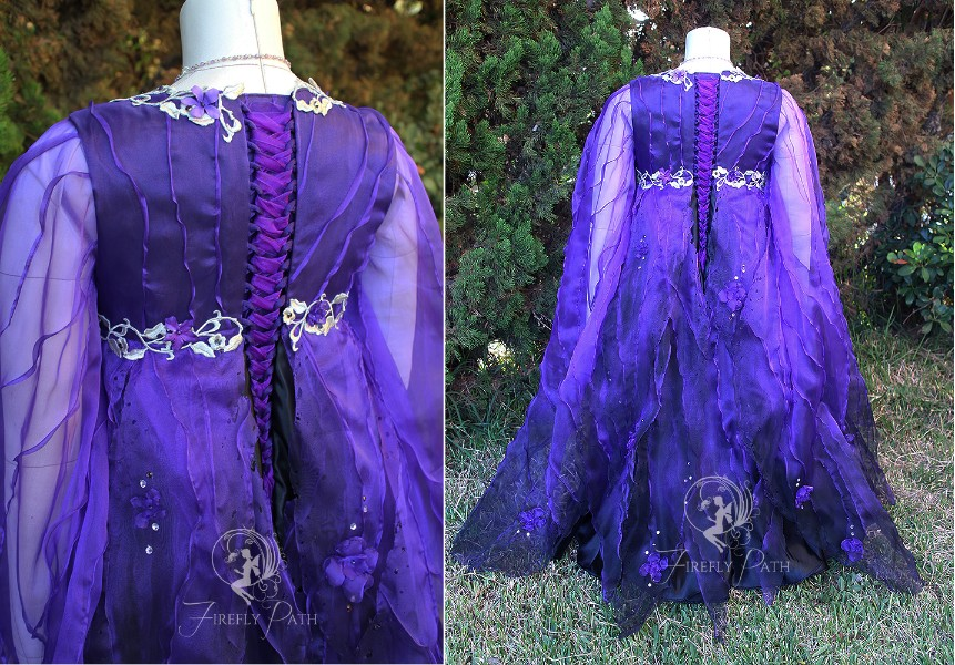 Purple & Black Faerie Gown