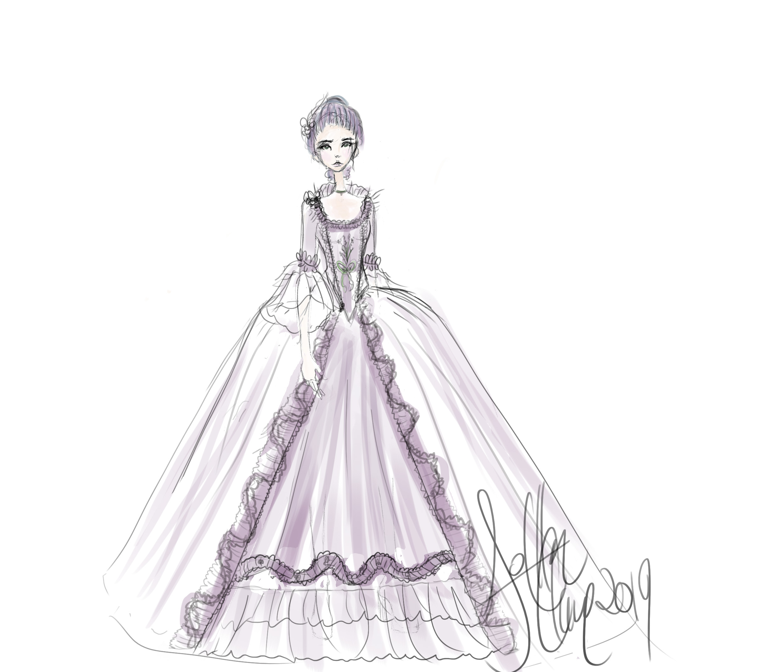French Lavender Gown Concept