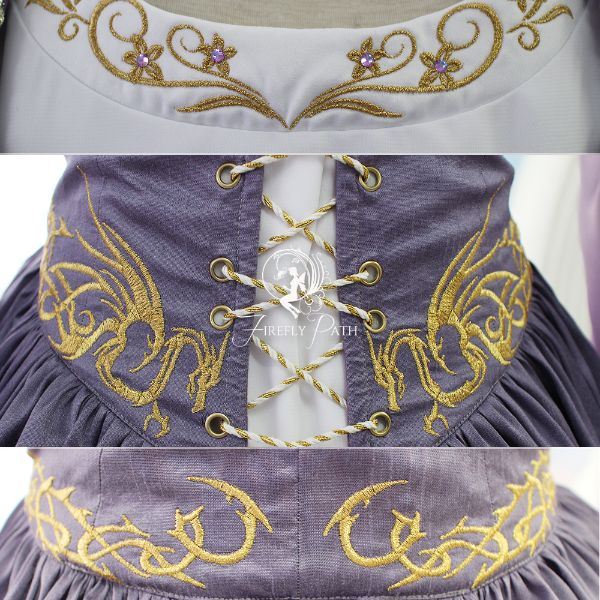 Lilac Dragon Gown Details