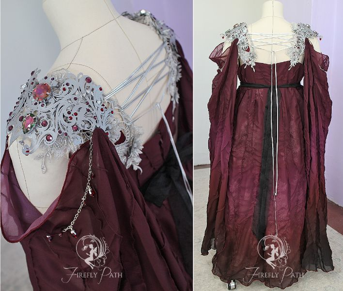 Maroon Armor Gown