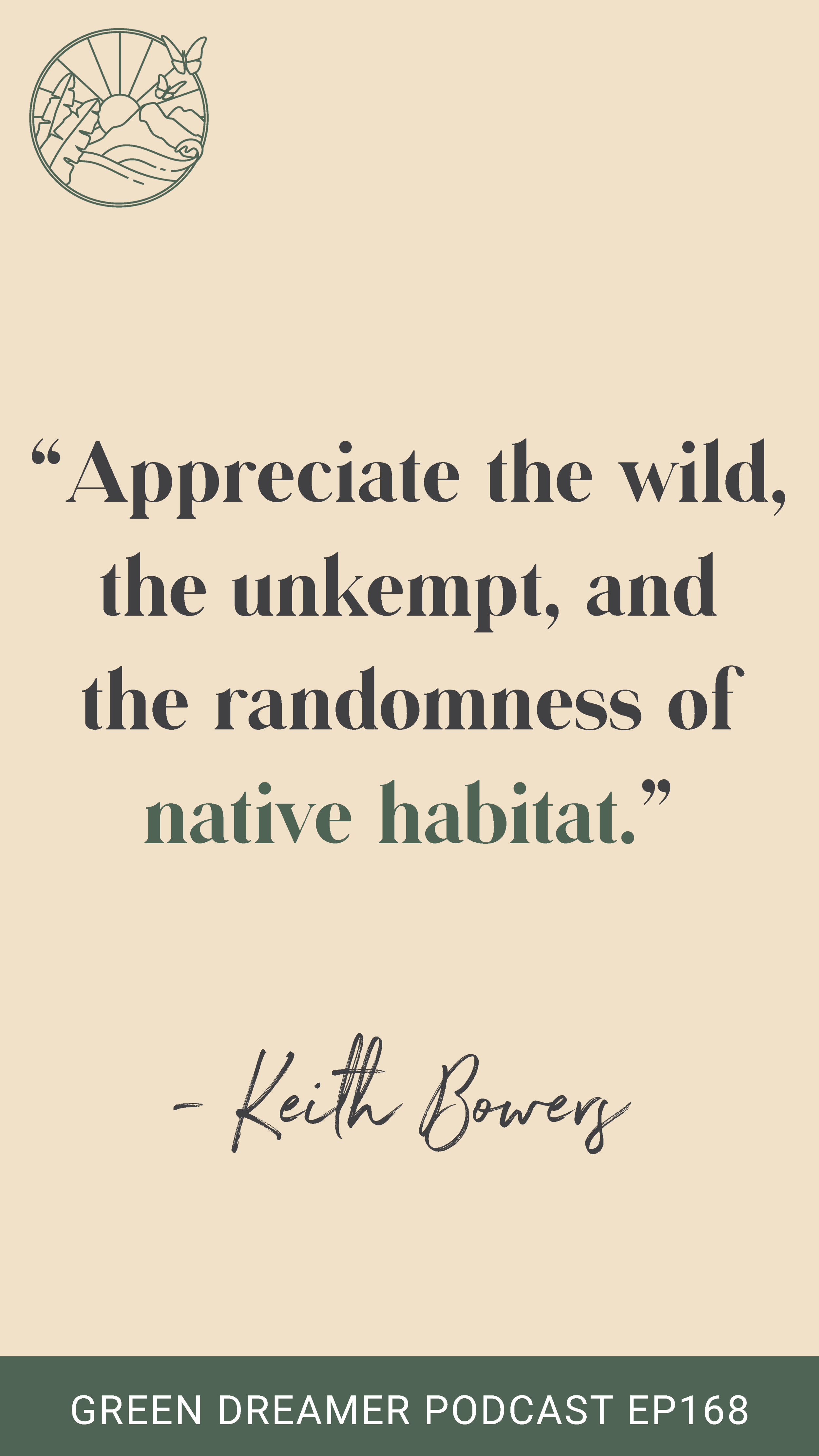 Rewilding quote - Green Dreamer Podcast